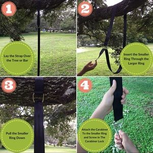 Family Forest Tree Swing Hanging Kit two8 Ft Strap